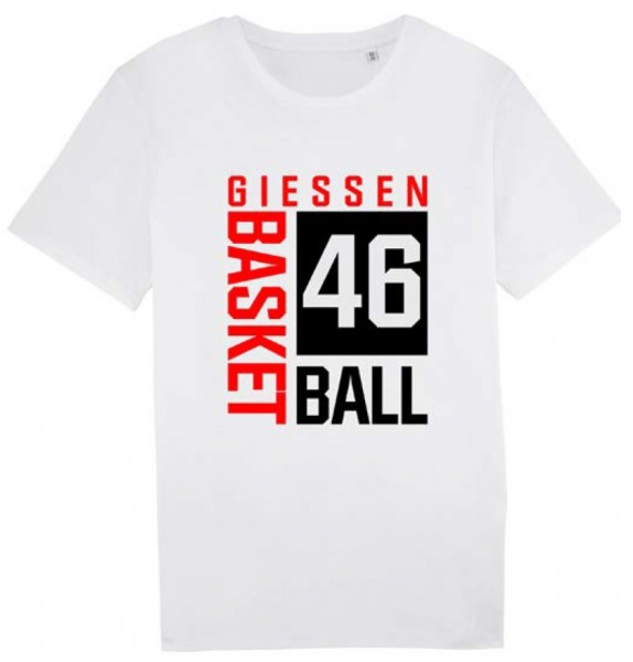 "T-Shirt ""Blockdruck"" Damen weiß"