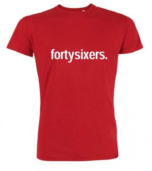 """T-Shirt """"fortysixers."""" Herren, rot"""