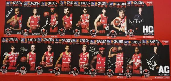 Autogrammkarten-Set Saison 2018/19 inkl. Unterschriften