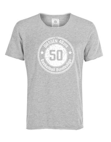 """T-Shirt """"50 Jahre BBL"""" Grau Damen"""