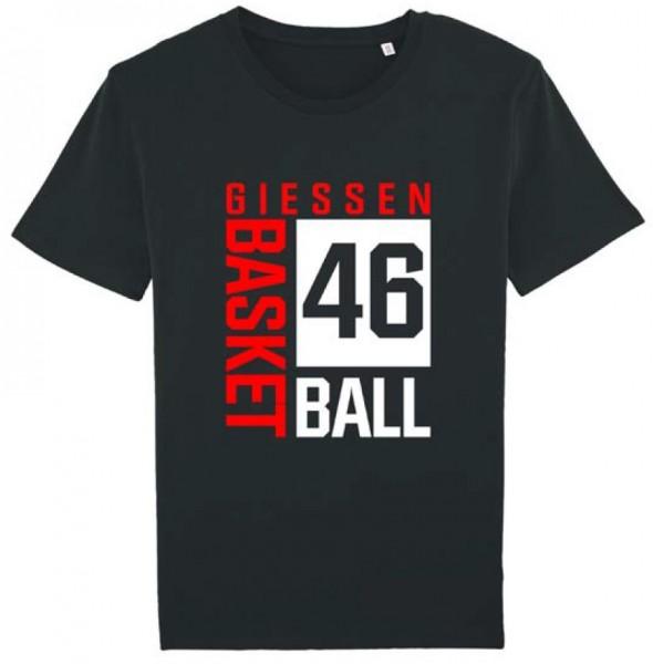 "T-Shirt ""Blockdruck"" schwarz"