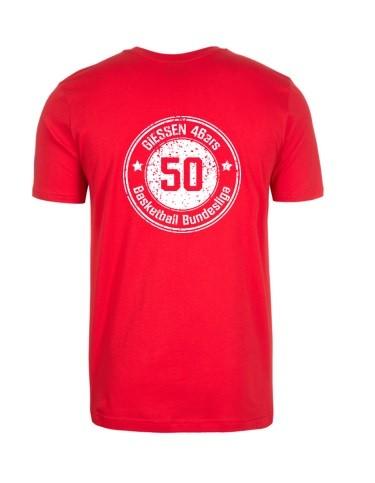 """T-Shirt """"50 Jahre BBL"""" Rot Damen"""